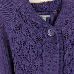 Apt 9 Chunky Cable Knit Hoodie Cardigan Sweater